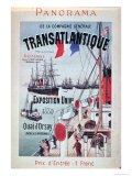 Poster Advertising Compagnie Generale Transatlantique at the Universal Exhibition, 1889 Giclee Print