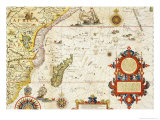 Map of East Africa and Madagascar, 1596 Giclee Print by Arnold Florent Van Langren