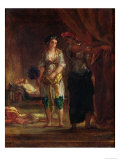 Interior of a Harem in Oran, c.1847 Giclee Print by Eugene Delacroix