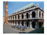 View of the Facade of the Basilica Palladiana, Built 1549-1614 Giclee Print by Andrea Palladio