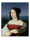 Carolina Grossi, the First Wife of the Artist, 1813-14 Giclee Print by Peter Von Cornelius