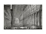 Basilica of San Paulo Fuori Le Mura, Rome, from Le Antichita Romane de G.B. Piranesi Giclee Print by Giovanni Battista Piranesi