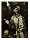 St. Francis of Assisi Receiving the Stigmata, c.1595 Lámina giclée por  El Greco