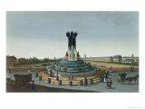 The Elephant Fountain at the Place de La Bastille, c.1815-20 Giclee Print by Henri Courvoisier-Voisin