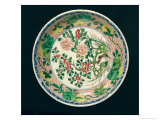 Dish with Famille Verte Decoration, Kangxi Period, 1662-1722 Giclee Print by Qing Dynasty Chinese School