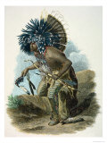 Medicine Man of the Mandan Tribe in the Costume of the Dog Dance, 1834 Giclee Print by Karl Bodmer
