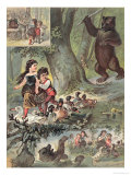Hansel and Gretel in the Forest, c.1880 Giclee Print by Carl Offterdinger