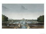 Vief of the Bassin du Canal de L'Ourq a La Villette, c.1815-20 Giclee Print by Henri Courvoisier-Voisin