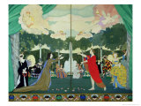 Curtain Design For the Free Theatre in Moscow, 1913 Giclee Print by Konstantin Andreevic Somov