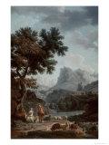 The Alpine Shepherdess Giclée-Druck von Carle Vernet