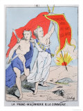 Allegory of Freemasonry and the Paris Commune, 1871 Giclee Print by  Moloch