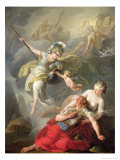 Battle Between Minerva and Mars, 1771 Giclee Print by Joseph Benoit Suvee