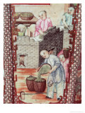 Detail from a Vase Depicting Drying Tea Giclee Print by Ming Dynasty Chinese School
