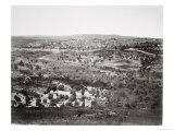 Jerusalem from the Mount of Olives, Printed in an Elephant Folio of Prints Pub.Virtue, 1860 Giclee Print by Francis Frith
