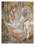 Jesus and St. Peter, Detail from Jesus Washing the Feet of the Apostle Giclee Print