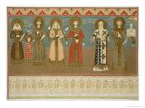 Imereth: Frescoes from the Gelati Monastery, Plate 8, c.1847 Giclee Print by Grigori Grigorevich Gagarin