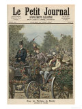 For the Victims of Duty: The Battle of Flowers, from Le Petit Journal, 13th June 1891 Giclee Print by Henri Meyer