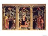 Altarpiece of St. Zeno of Verona, 1456-60 Giclee Print by Andrea Mantegna