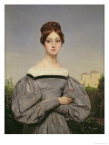 Portrait of Louise Vernet Giclee Print by Horace Vernet