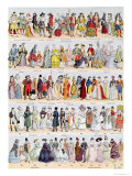 Clothing in France from the Seventeenth Century Up to 1925, Published by Larousse, 1929 Giclee Print by Louis Bombled