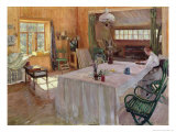 In the House of the Artist Konstantin Korovin Giclée-Druck von Sergei Arsenevich Vinogradov