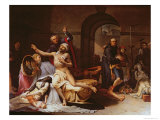 The Yellow Fever Epidemic in Valencia, c.1806 Giclee Print by Jose Aparicio