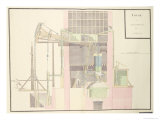 Cross-Section of a Steam Machine to Raise Water from Mines, c.1760 Giclee Print