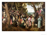 The Sermon of St. John the Baptist Giclee Print by Pieter Bruegel the Elder
