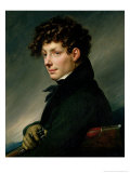 Portrait of a Young Man as a Hunter, 1811 Gicle-tryk af Anne-Louis Girodet de Roussy-Trioson