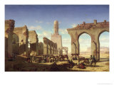 Ruins of the Mosque of the Caliph El Haken, Cairo, c.1840 Giclee Print by Prosper Georges Antoine Marilhat