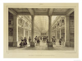 Galerie D&#39;Orleans at the Palais Royal, Paris et Ses Environs, Engraved A. Bry, c.1850-60 Reproduction proc&#233;d&#233; gicl&#233;e par Jean Jacottet