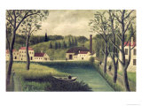 Landscape with a Fisherman, After 1886 Giclee Print by Henri Rousseau