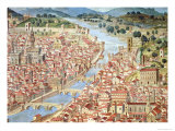 The Carta Della Catena Showing a Panorama of Florence, 1490 Giclee Print