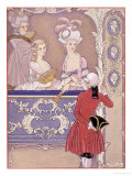Women in a Theater Box, Illustration from Les Liaisons Dangereuses by Pierre Choderlos de Laclos Giclee Print by Georges Barbier