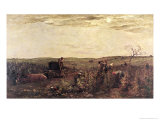 The Wine Harvest in Burgundy, 1863 Giclee Print by Charles-Francois Daubigny