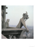 Gargoyle from the Balustrade of the Grande Galerie, Replica of a 12th Century Original Giclée-Druck von Eugène Viollet-le-Duc
