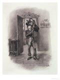 Bob Cratchit and Tiny Tim, Charles Dickens: A Gossip About His Life, by T.Archer, Pub. c.1894 Giclee Print by Frederick Barnard