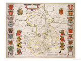 Map of Cambridgeshire, Published Amsterdam c.1647-48 Giclee Print by W.j. Blaeu