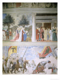 Queen of Sheba Worshipping the Wood of the True Cross, Reception of Sheba by King Solomon Giclee Print by Piero della Francesca