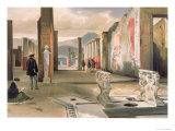 Tourists Visiting the Ruins of Pompeii, c.1860 Giclee Print by Giacinto Gigante
