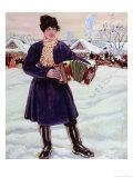Shrove-Tide, 1916 Giclee Print by B. M. Kustodiev