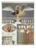 Frescoes, Orthodox Church of Nekrssi, Plate 48, Le Caucase Pittoresque Dessine Apres Nature, c.1847 Giclee Print by Grigori Grigorevich Gagarin