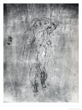 Wall Drawing of a Male Figure, c.1530 Giclee Print by  Michelangelo Buonarroti