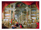 Gallery with Views of Modern Rome, 1759 Giclee Print by Giovanni Paolo Pannini