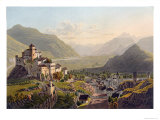View of Sion, Illustration from Voyage Pittoresque de Geneve a Milan, Published Basle, 1819 Giclee Print by Gabriel Lory