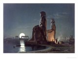 The Colossi of Memnon, Thebes, c.1872 Giclee Print by Carl Friedrich Heinrich Werner