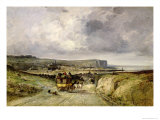 Arrival of a Stagecoach at Treport, 1878 Giclee Print by Jules Achille Noel