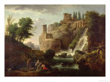The Falls of Tivoli Giclee Print by Carle Vernet