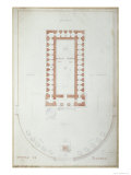 Plan of the Temple of Solomon in Jerusalem, Mid 19th Century Giclee Print by Andre Lenoir