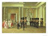 The Heraldic Hall in the Winter Palace, St Petersburg, 1838 Giclee Print by Adolphe Ladurner
